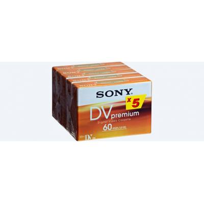 Sony plakband: DVM60PR4 5PK - Oranje, Wit