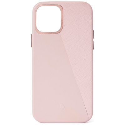 Decoded Dual Leather Backcover iPhone 12 (Pro) - Roze - Roze / Pink Mobile phone case