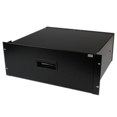 StarTech.com 4U Opberglade voor 19 inch Serverracks Serverkasten Zwart Staal Rack toebehoren