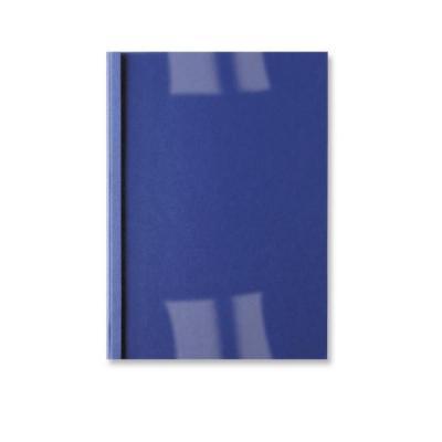 Gbc binding cover: LeatherGrain ThermaBind Bindomslagen 1,5mm Koningsblauw(100) - Blauw, Transparant