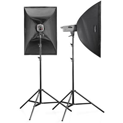 Walimex photo studio equipment set: VE-150 XL Excellence - Zwart, Wit