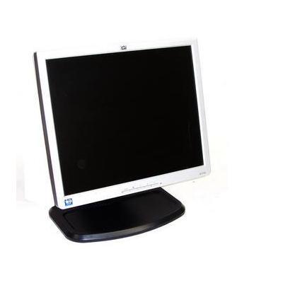 HP L1740 Refurbished Monitor - Zwart, Wit - Refurbished ZG