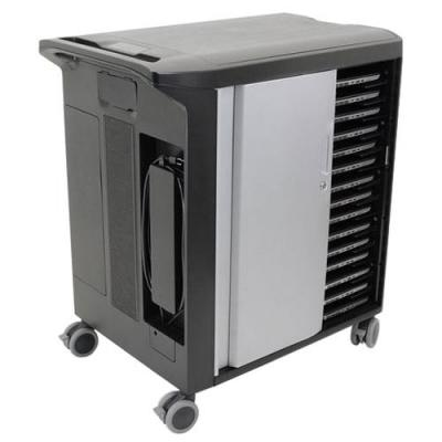 Dell portable device management carts & cabinet: Mobile Computing Cart Unmanaged - Zwart, Zilver