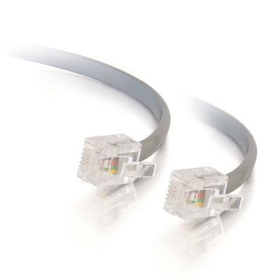 C2G 5m RJ11 6P4C Straight Modular Cable Signaal kabel - Grijs