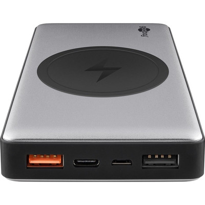 Goobay 37 Wh, 10 Ah, 3.7 V, 3 A, USB-C, Quick Charge 3.0, 280 g Powerbank - Zwart,Grijs