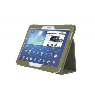 Kensington tablet case: Comercio™ Soft Folio Case & Stand for Galaxy Tab® 3 10.1 - Olive - Olijf