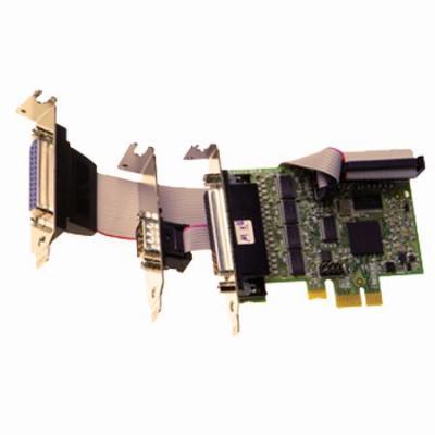 Brainboxes LP PCIe 4+1xRS232 + 1xLPT Printer Port Interfaceadapter - Groen