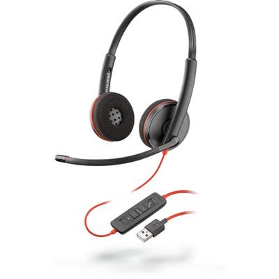 POLY Blackwire C3220 Headset - Zwart, Rood