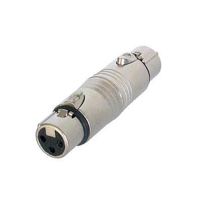 Neutrik 3p XLR NA3FF adapter Kabel adapter - Zilver