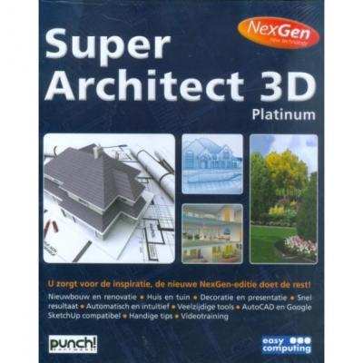 Easy computing grafische software: Super Architect 3D Platinum Nexgen