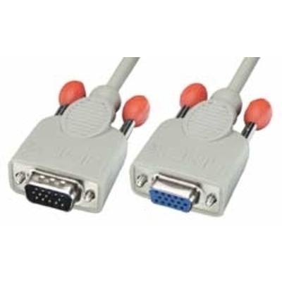 Lindy 15m HD15 Cable VGA kabel  - Grijs