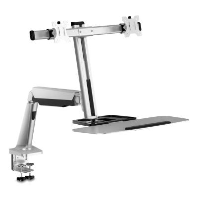 V7 Sit-Stand Mount Dual Gas Spring - Zilver