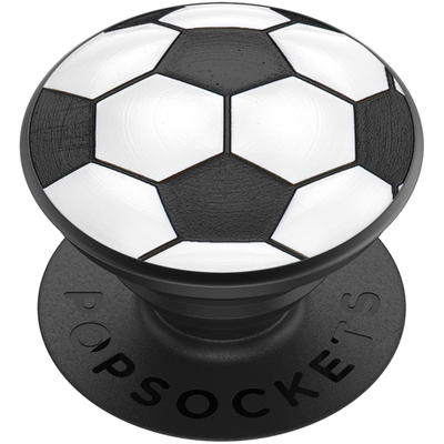 PopSockets Soccer Ball Houder - Zwart,Wit