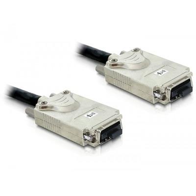 Delock SCSI kabel: Cable Infiniband - Infiniband 1m - Zwart