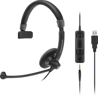 Sennheiser SC 45 USB MS Headset - Zwart