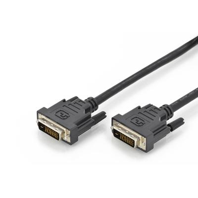 Digitus DVI connection cable, DVI(24 1) M/M, 2.0m, DVI-D Dual Link, bl DVI kabel  - Zwart