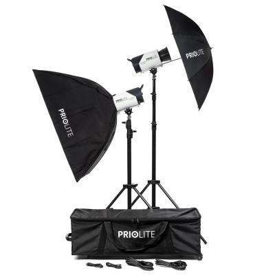 Priolite photo studio equipment set: BONN - Zwart