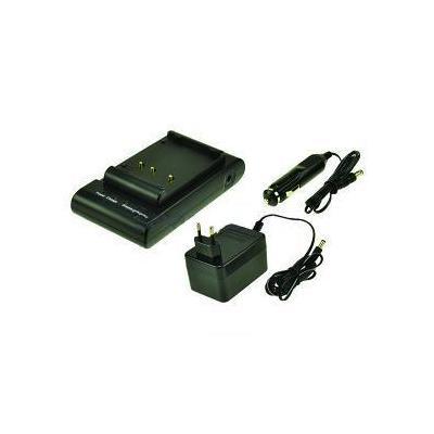 2-power oplader: Camera/Camcorder Battery Charger, 230V, EU, Black - Zwart