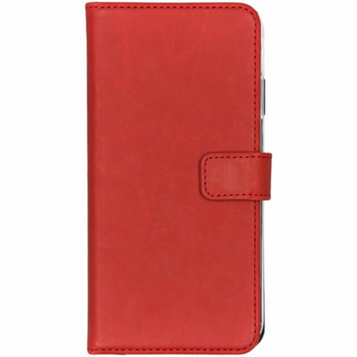 Echt Lederen Booktype iPhone Xs Max - Rood / Red Mobile phone case