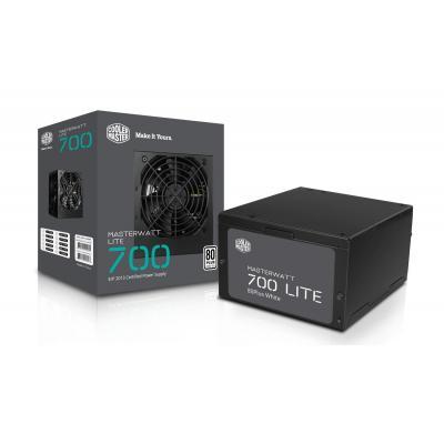 Cooler master power supply unit: MasterWatt Lite 700 - Zwart