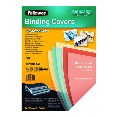 Fellowes binding cover: Transparante PVC dekbladen - 150 micron A4
