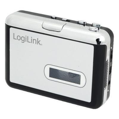 Logilink cassettespeler: Cassette-Player with USB Connector - Zwart, Zilver