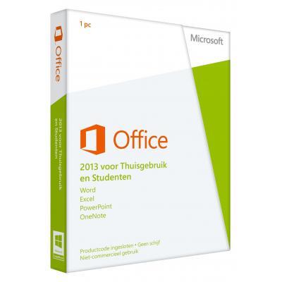 Microsoft software suite: Office 2013 voor Thuisgebruik en Studenten