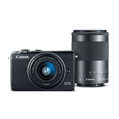 Canon digitale camera: EOS M100 - Zwart
