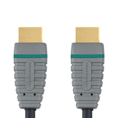 Bandridge 0.5m HDMI HDMI kabel - Zwart, Grijs