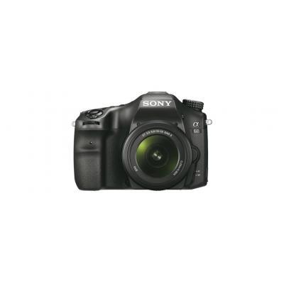 Sony digitale camera: α α68 + 18-55mm Zoom Lens - Zwart