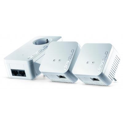 Devolo powerline adapter: dLAN 550 WiFi Network Kit - Wit