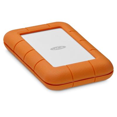 LaCie Rugged Secure Externe harde schijf - Oranje, Wit