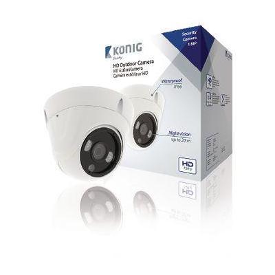 "König Dome, IP66, Metal, 1/4"" CMOS Beveiligingscamera - Wit"