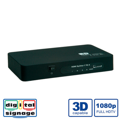 Value HDMI Splitter, 4-way Video splitter