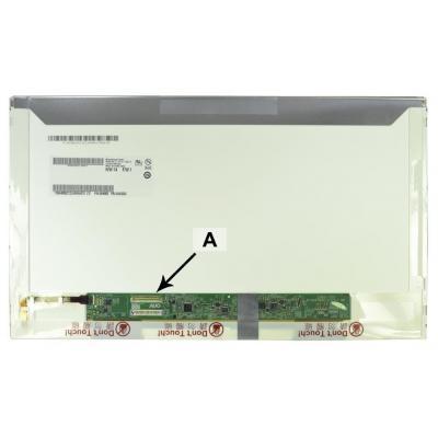 2-power notebook reserve-onderdeel: 15.6'' WXGA HD 1366x768 LED Glossy - Zwart, Wit