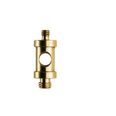 Manfrotto 118, Short 16mm Spigot with 1/4'' and 3/8'' screw Statief accessoire - Geelkoper