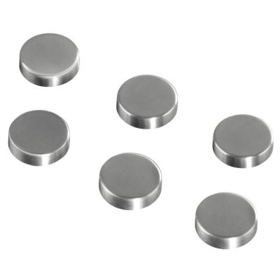 Hama koelkastmagneet: Magnets, circular, 6 pieces - Zilver