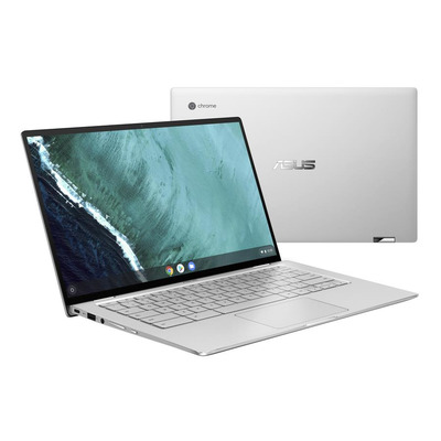 "ASUS Chromebook Flip C434TA-AI0043 14"" Touch Core M 4GB RAM 32GB eMMC Laptop - Zilver"