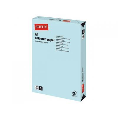 Staples papier: Papier SPLS A4 80g middelblauw/pak 500v