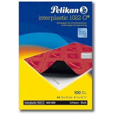 Pelikan carbonpapier: Interplastic Carbon Paper A4 Black 10 Sheets - Zwart