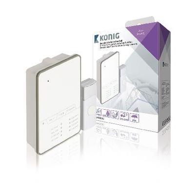 König video intercom system: Draadloze Deurbel Set Batterijgevoed 80 dB Wit/Grijs - Grijs, Wit