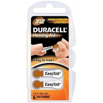 Duracell batterij: DA312, 1.4V, Zinc-Air, 312 - Bruin