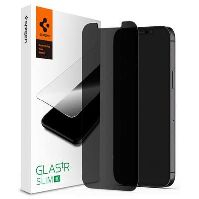 Spigen GLAS.tR Privacy HD Screen protector - Zwart,Transparant