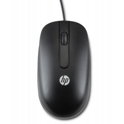 Hp computermuis: USB 1000dpi Laser Mouse - Zwart