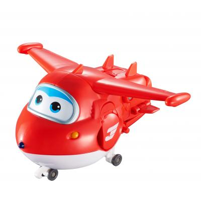 Alpha animation & toys toy vehicle: Super Wings Speelfiguren Transforming! Jet - Rood, Wit