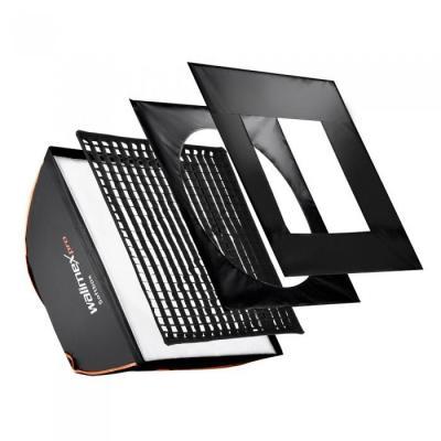 Walimex softbox: pro Softbox PLUS OL 60x60cm pro&K - Zwart, Wit