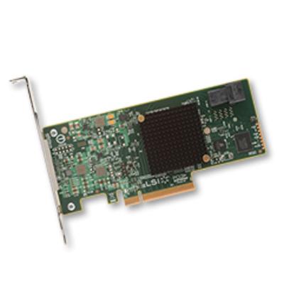 Broadcom SAS 9300-4i Interfaceadapter - Groen,Grijs