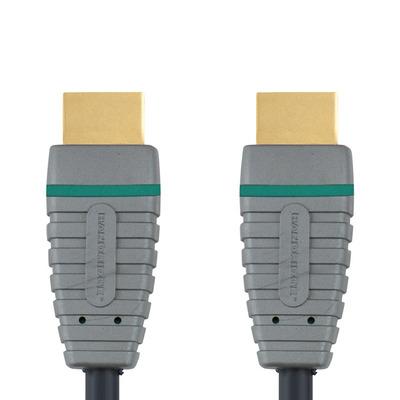 Bandridge BVL1205 HDMI kabel - Zwart, Grijs