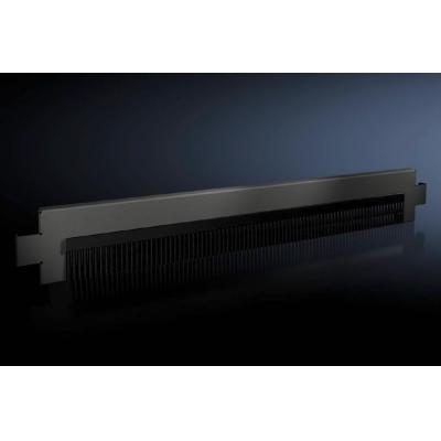 Rittal kabelgootaccessoire: Base/plinth trim panels with brush strip for base/plinth system VX - Zwart