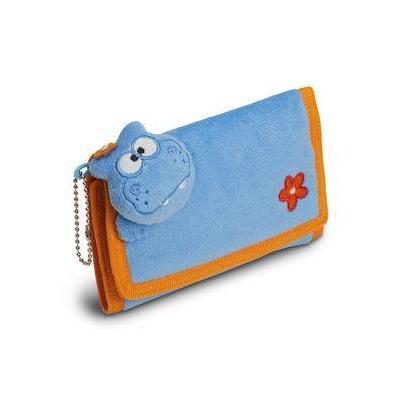 Herma portemonnee: Purse Funny Animals Hippo - Blauw, Oranje